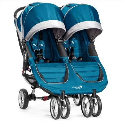 BABY JOGGER - City Mini double TEAL/GRAY