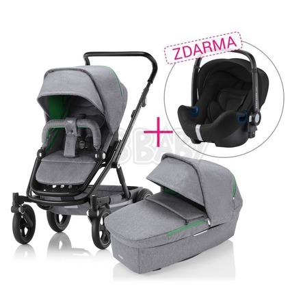 BRITAX RÖMER SET Kočík Go Big 2, Dynamic Grey